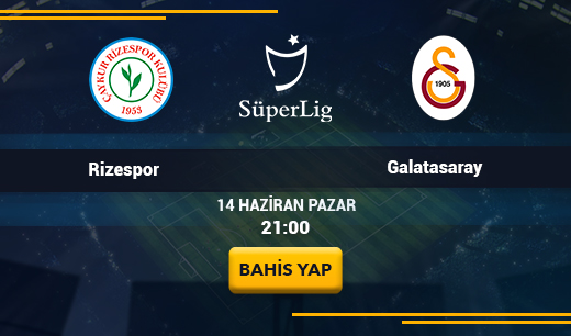 Çaykur Rizespor vs Galatasaray - Canlı Maç İzle
