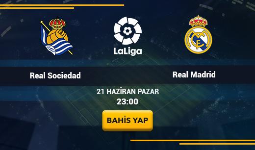 Real SociedadvsReal Madrid - Canlı Maç İzle