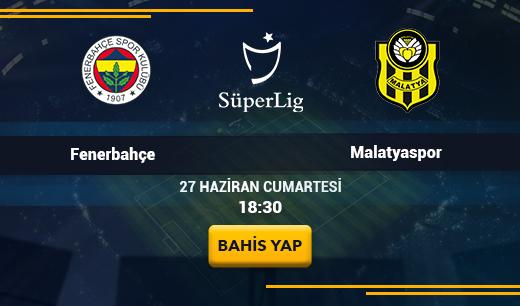 Fenerbahçe vs Yeni Malatyaspor - Canlı Maç İzle