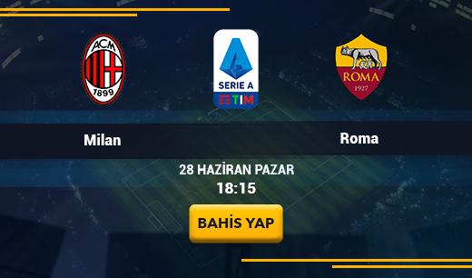 Milan vs Roma - Canlı Maç İzle