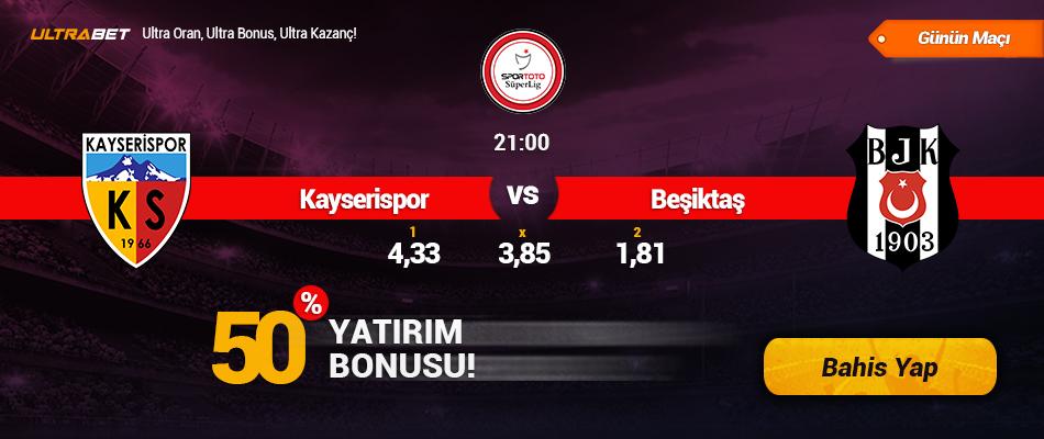 Kayserispor vs Beşiktaş - Canlı Maç İzle