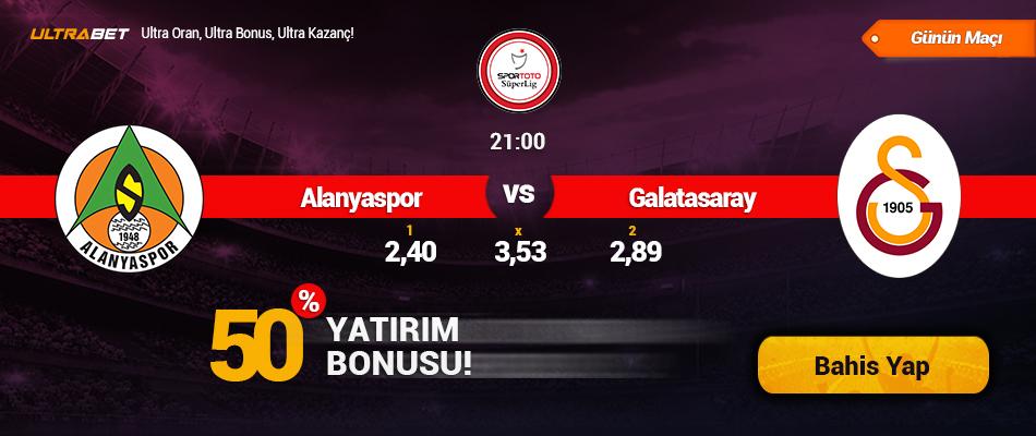 Aytemiz Alanyaspor vs Galatasaray - Canlı Maç İzle