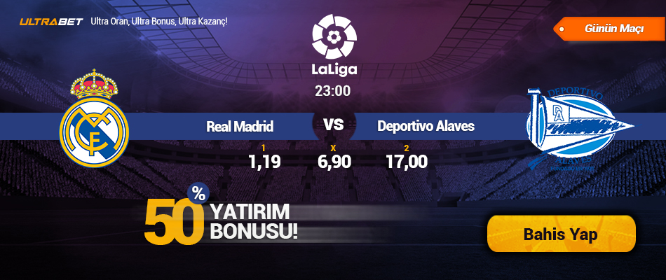Real Madrid vs Deportivo Alaves - Canlı Maç İzle