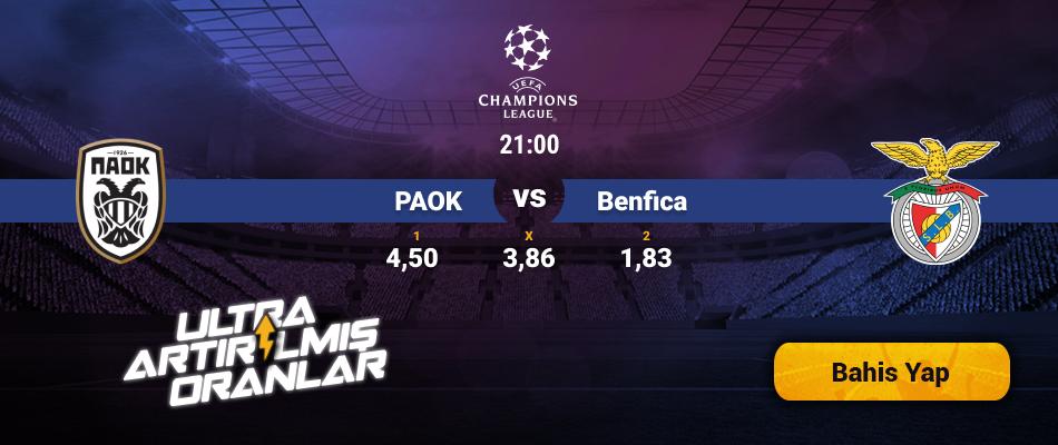 PAOK- Benfica Canlı Maç İzle
