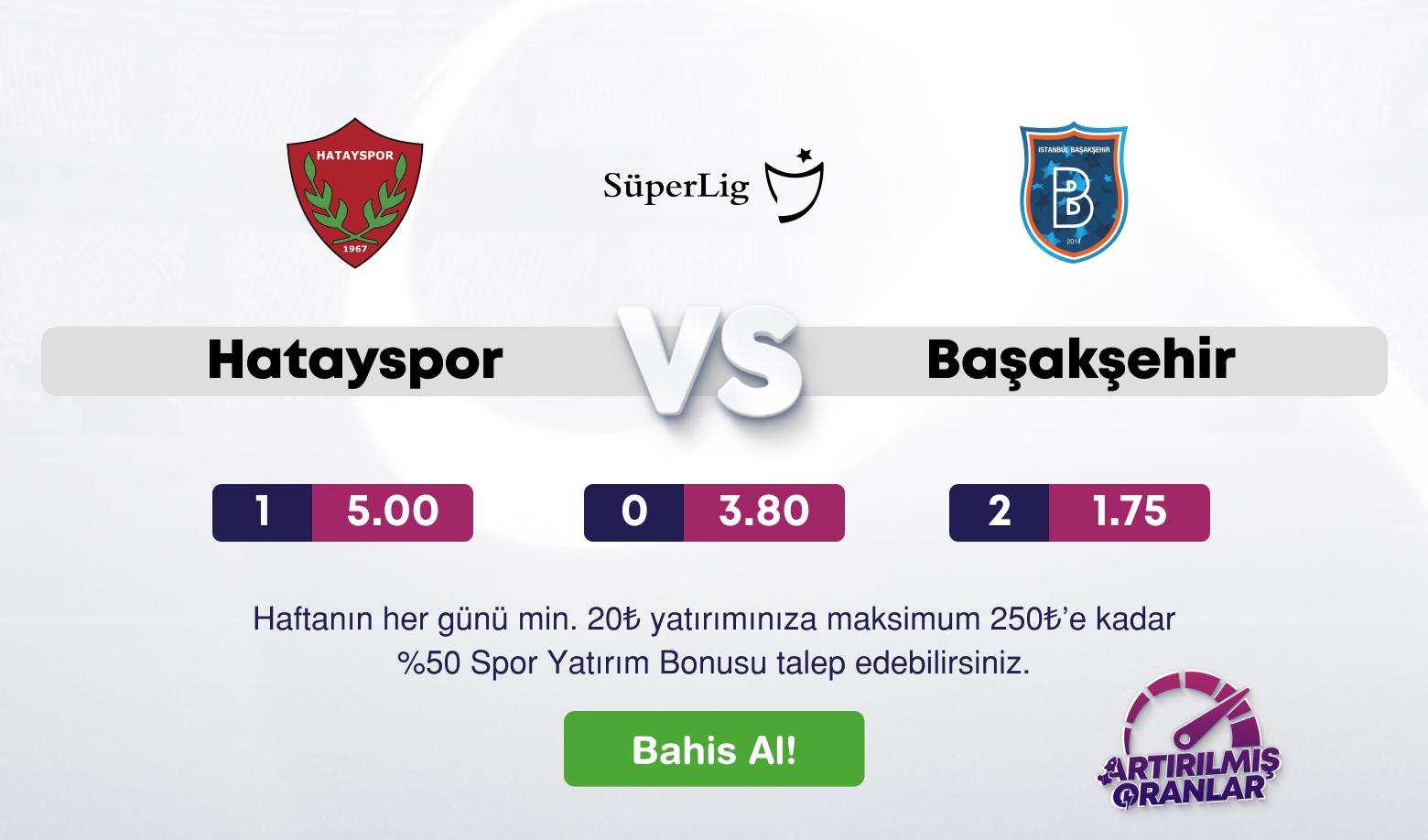 HataySpor Medipol Başakşehir Canlı Maç İzle