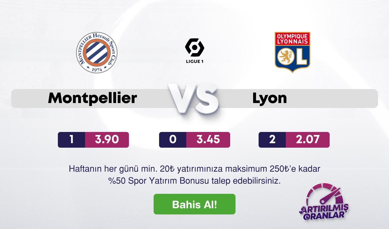 Montpellier - Lyon Canlı Maç İzle