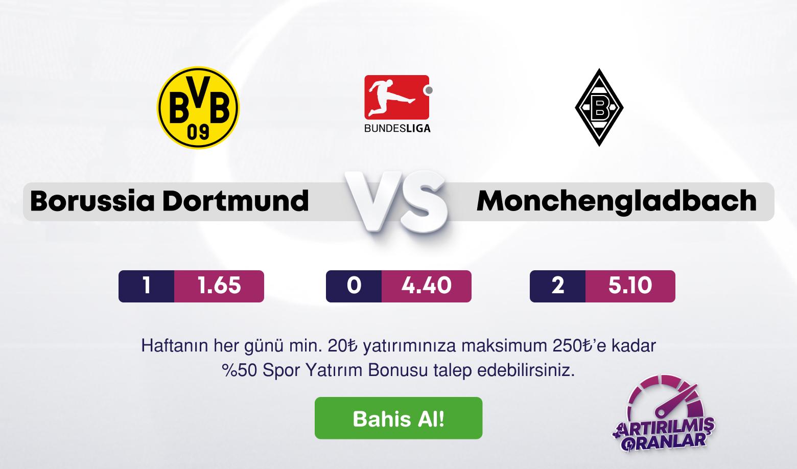 B.Dortmund. Monchengladbach Canlı Maç İzle